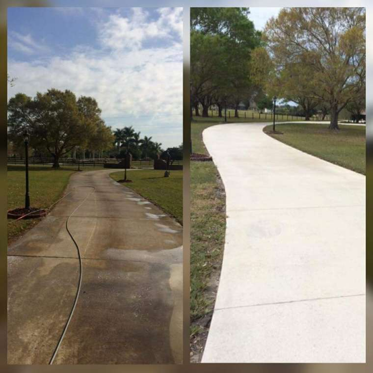 sidewalk / house pressure washing services Osprey, FL